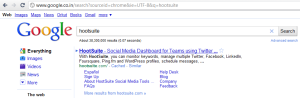 hootsuite.com google search results spotted by brandbull