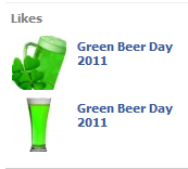 Likes of Green Beer Day 2011 on Sohi Sandwich Club FB Page spotted by Brandbull